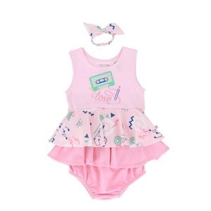 OETEO Australia Mixtape EASYEO Ruffled Baby Romper Dress