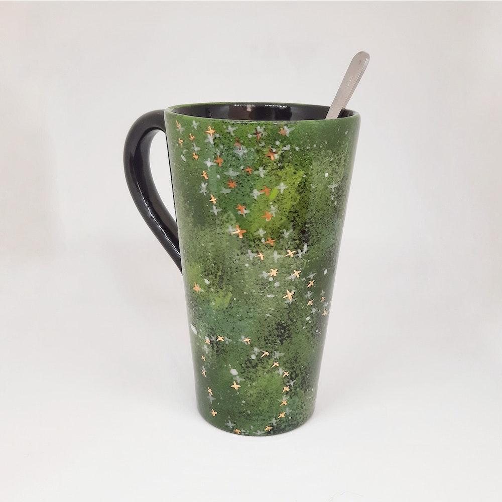 Lauren Michelle Designs  Large Green Galaxy Mug