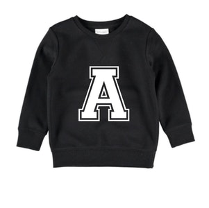 Personalised Varsity Jumper - Black