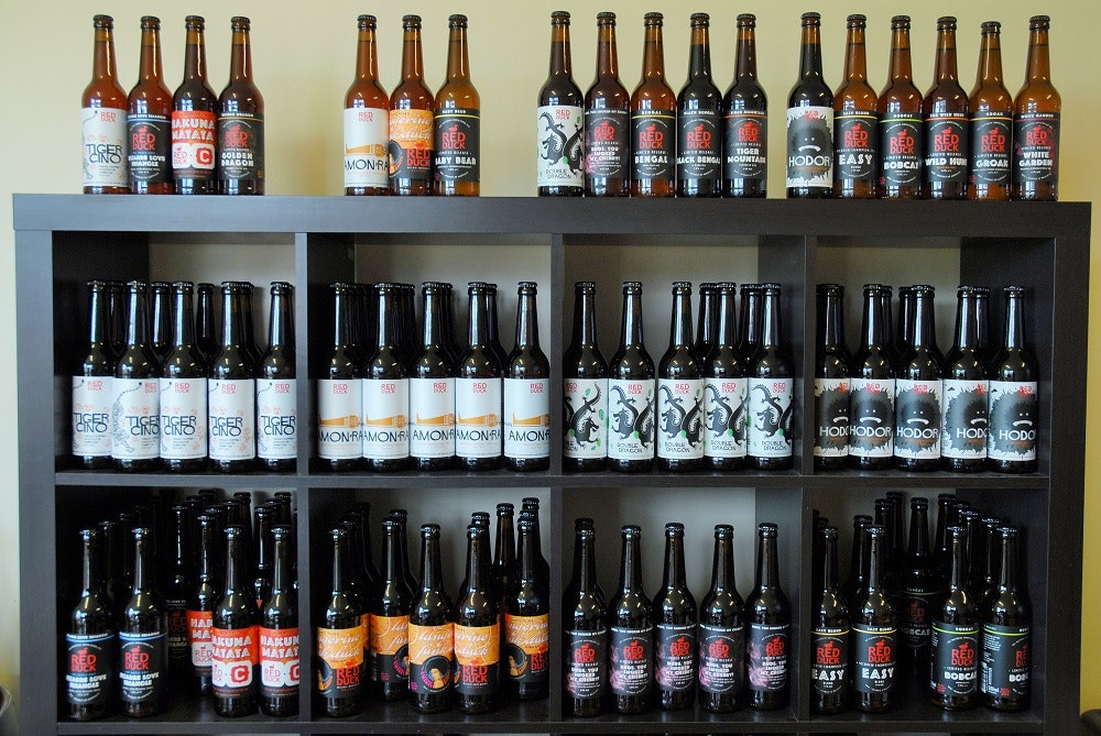 red duck beer selection
