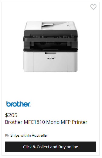 Brother MFC 1810 Mono Printer