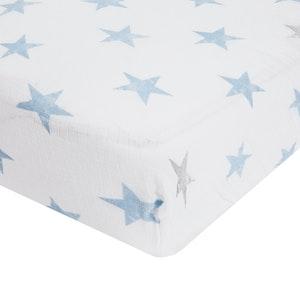 aden dapper classic muslin fitted cot sheet single
