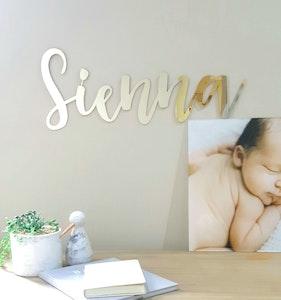 Personalised Acrylic Nursery Name Sign