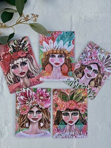 The Summer Girls Greeting Cards Pack of 5