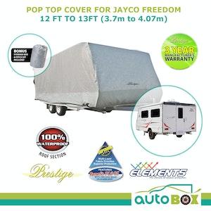 Prestige Pop Top Caravan Cover suits Jayco Freedom 12.38 Rear Side Door Access