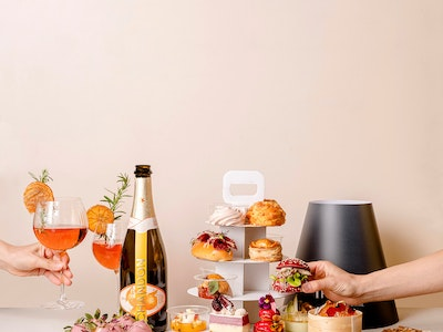 Spring Spritz High Tea for Two + Bottle of Chandon Garden Spritz + Chocolate Coated Strawberries // AVAILABLE FROM 15 OCT **