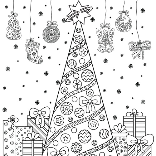 Christmas Tree - Free Colouring-in Sheet