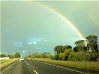 Double rainbow near Policemans Point SA