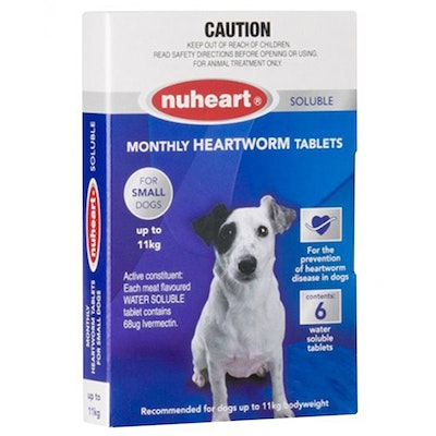 Nuheart Small Dogs Easydose Soluble Heartworm Tablets