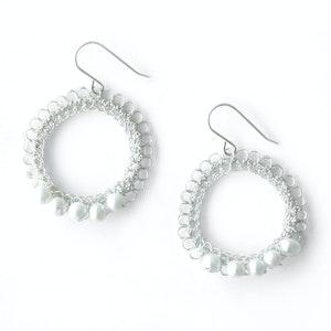 Global Sisters Shop Katia Earrings White