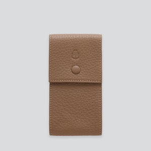 Time+Tide Watches  Taupe Elegant Leather Watch Pouch
