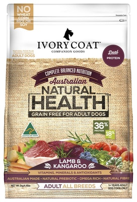 IVORY COAT Grain Free Dry Dog Food Lamb & Kangaroo 13kg