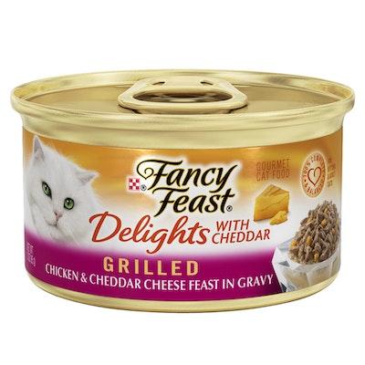 Fancy Feast Delights w/ Cheddar Wet Cat Food Chicken & Cheddar Cheese 24 x 85g