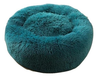House of Pets Delight Soothing Calming Donut Pet Bed in Emerald