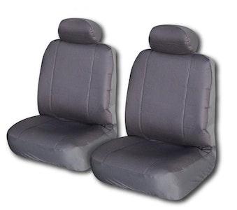 Canvas Seat Covers For Nissan Navara 1997-2005 Single Cab   Grey