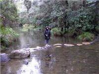 Carole tackles Carnarvon stepping stones