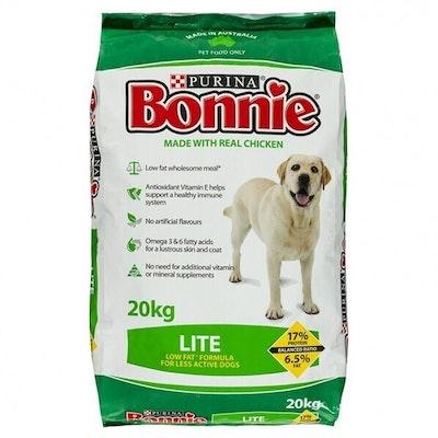 Purina Bonnie Lite Dog Food Reduce Weight Gain Low Fat 20kg