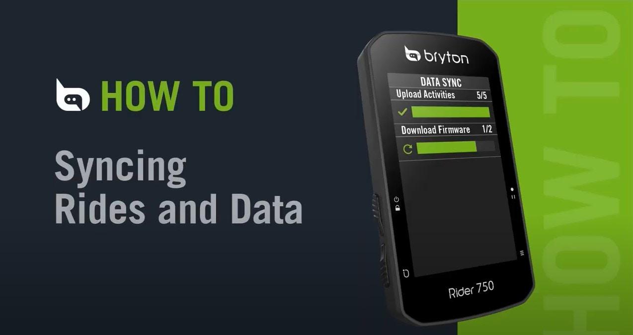 Bryton Rider 750 | Uploading Rides & Data Sync