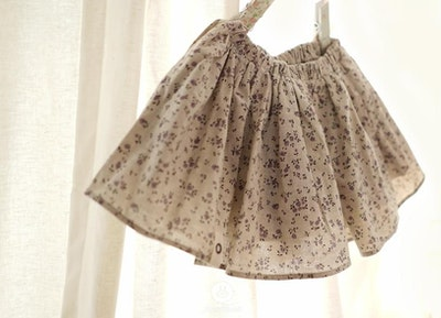 Violet Flower Volume Skirt (1-4yrs old)
