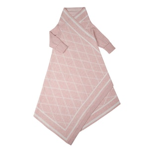 Jujo Baby Criss Cross pattern Shwrap™  - Blush/ecru