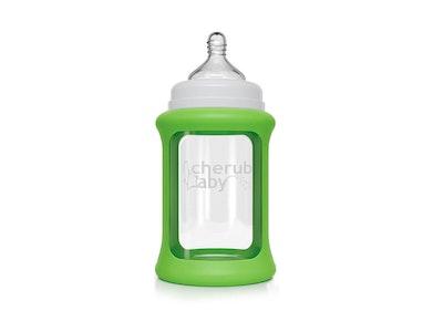 Colour Change Glass Bottles Wide Neck 240ml Single Pack - Green