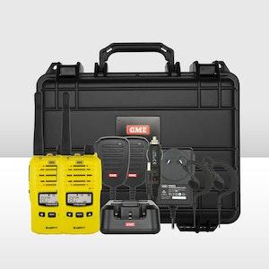 GME TX6160YTP Handheld UHF Twin Pack - Yellow