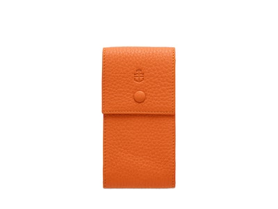 Time+Tide Watches  Orange Elegant Leather Watch Pouch
