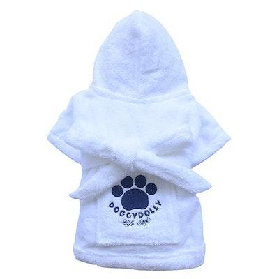 DoggyDolly THICK DOG - Bath Time White Doggy Robe