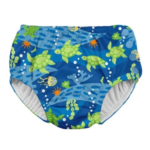 i play. Snap Reusable Absorbent Swimsuit Diaper-Royal Blue Turtle Journey