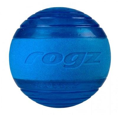 Rogz Ball Squeekz Blue