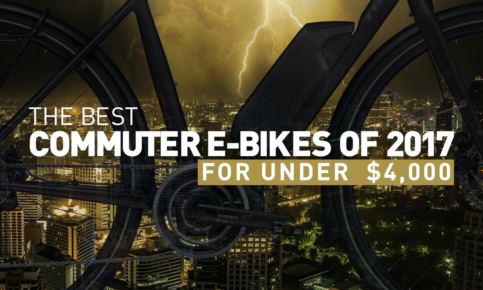 Best Commuter E-Bikes of 2017 for Under $4,000