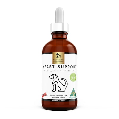Natural Pet Supplements Yeast Support Herbal Tincture For Dogs and Cats High Strength 100ml