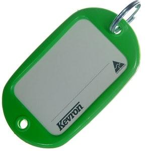 Kevron ID10 Jumbo Motel Key Tag 12 Pack - Green