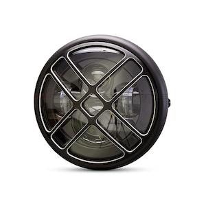 "7.7"" Multi Projector Headlight with Titan Grill - Matte Black"