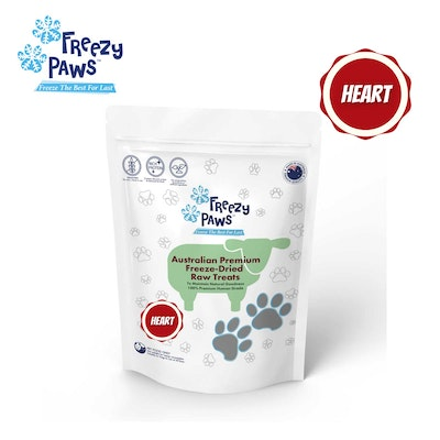 Freezy Paws Freeze-Dried Lamb Heart Raw Treats for Pet Cat Dog 100g
