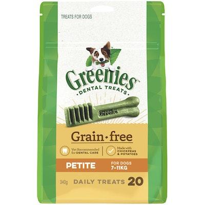 Greenies Grain Free Petite Dogs Dental Treats 7-11kg 340g