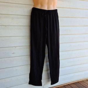 Unisex Sleep Pants   100% Merino Wool Black