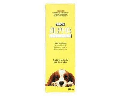 Troy Alpha Ear Cleaner for Dogs Otitis Externa Antiseptic 100ml