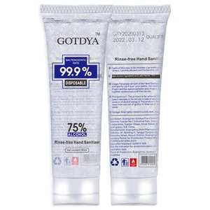 GOTDYA Hand Sanitiser Gel 80ml - 75% Alcohol - Packs from $3.99/tube