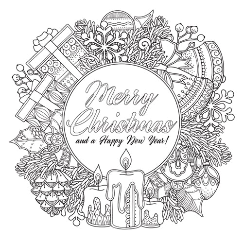 Merry Christmas - Free Colouring In sheet