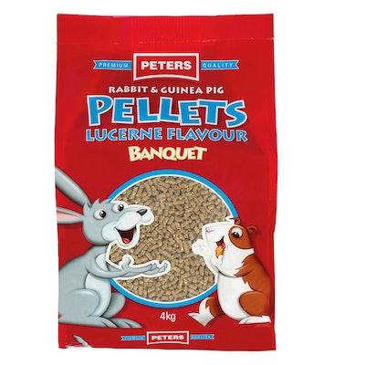 Peters Rabbit & Guinea Pig Pellets Lucerne Flavour Banquet Feed 4kg