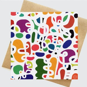 The Overthinker (White) - Hip to be Square Greeting Card