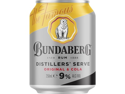 Bundaberg Rum and Cola 9% Can 250mL Case