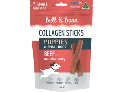 Bell and Bone Collagen Sticks for Puppies: Beef and Manuka Honey
