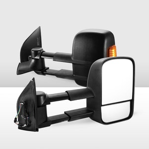 Pair Extendable Towing Mirrors for Nissan Navara D40/550 2005-2015