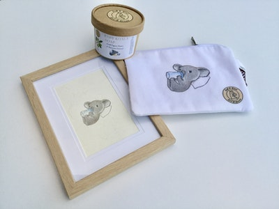 Art'N Green Baby welcome package - Baby Koala assorted goodies