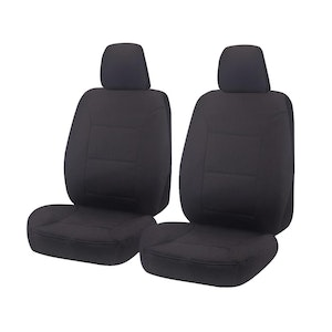 Challenger Car Seat Covers For Toyota Landcruiser Vdj 70 Series, Troopcarrier/4X4 Wagon/Single/Dual Cab 2008-2020 | Charcoal