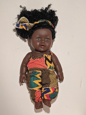 Designed by Florence Mercy Eno Doll