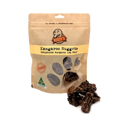 Bugsy Pet Supplies HEALTHY SNACKS | Hip Hop Dehydrated Kangaroo Nuggets