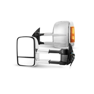 Pair Extendable Towing Mirrors For Toyota Hilux 2005 2015